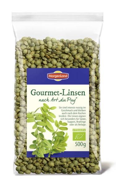 """LOGO_MorgenLand Gourmet-Linsen nach Art """"du Puy"""" 500g"""