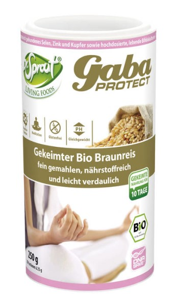 LOGO_Dr. Sprout - GABA Protect - gekeimter und fein gemahlener Bio Braunreis
