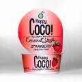 LOGO_125 g // 350g Happy Coco Kokosmilch-Yoghi Strawberry - bio, fairtrade, vegan