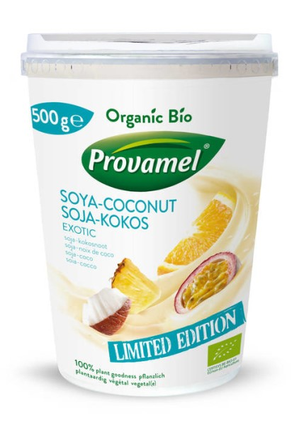 LOGO_Provamel Plant-Based Alternative to Yogurt Soya-Coconut Exotic