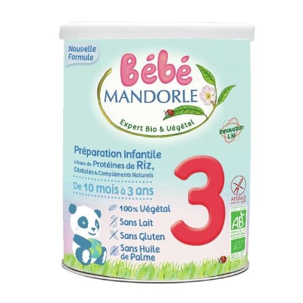 LOGO_Bebe Mandorle 3 - '2 in 1' Cereals with a protein supplement from the age of 10 months