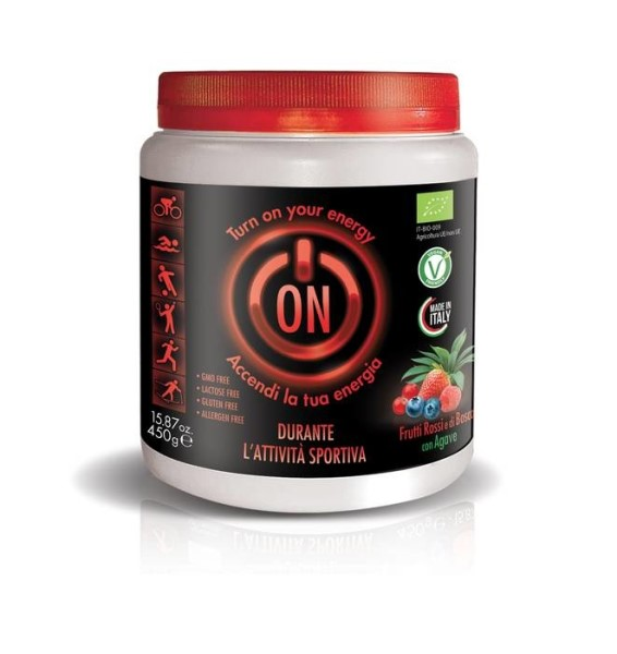 LOGO_DURANTE: Powder energy drink with red and forest fruits
