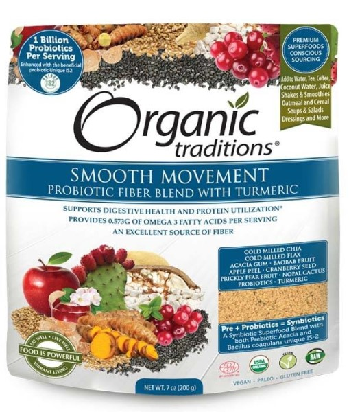 LOGO_Organic Traditions® Smooth Movement - Probiotic Fiber Blend with Turmeric
