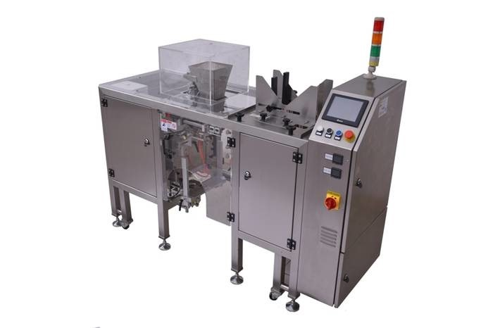 "LOGO_Sealing machine for premade bags with integrated bag device ""Pre-Made-Bag""- machine"
