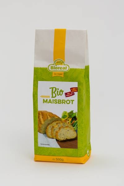 LOGO_Bioreal® Bio-Backmischung für Maisbrot