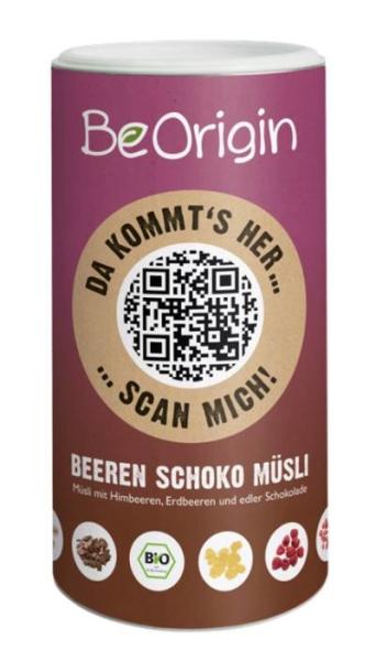LOGO_BeOrigin Beeren Schoko Müsli 400g
