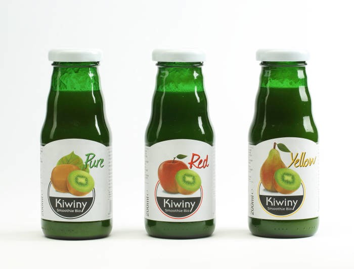 LOGO_3x verschiedene Kiwiny Smoothies: Pure, Red, Yellow