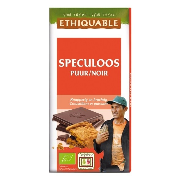 LOGO_ETHIQUABLE DUNKLE SCHOKOLADE MIT SPECULOOS 100g