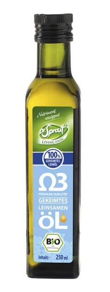 LOGO_Dr. Sprout - cold pressed organic Flax seed oil - from germinated Flax seeds