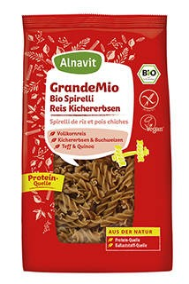LOGO_Organic Pasta Twirls with rice & chickpeas