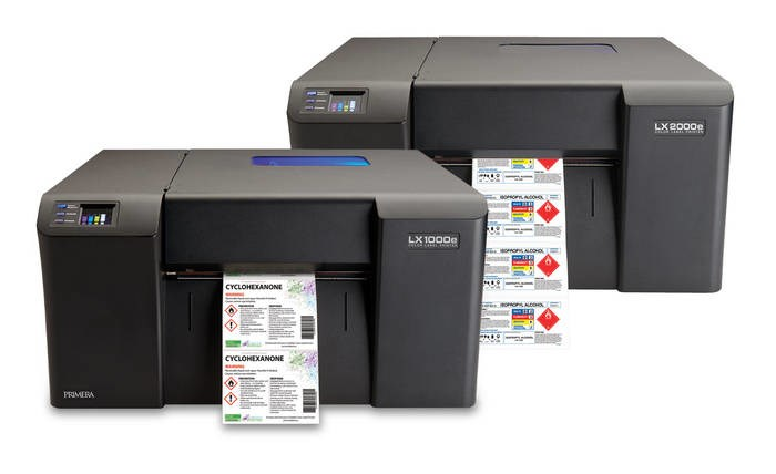 LOGO_LX1000e/LX2000e Color Label Printer: Primera's fastest pigment inkjet printers - perfect for large volumes of durable labels