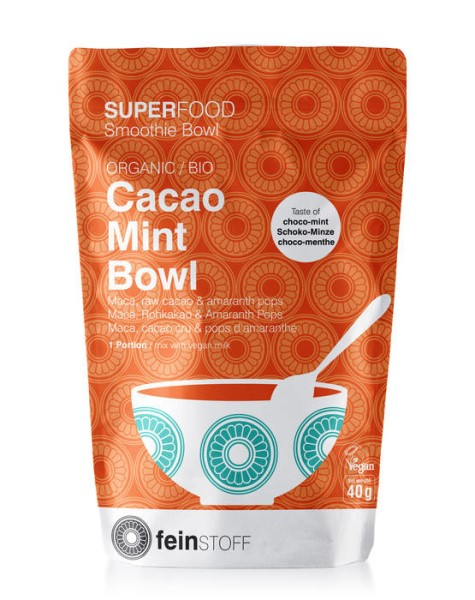 LOGO_SUPERFOOD Smoothie Bowl: ORGANIC Cacao Mint Bowl