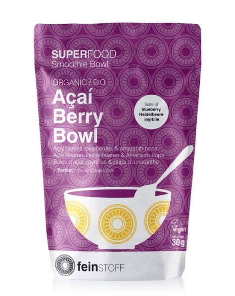 LOGO_SUPERFOOD Smoothie Bowl: ORGANIC Acai Berry Bowl