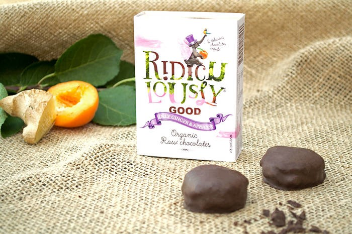 LOGO_Ridiculously Good - Jolly Ginger & Apricot - Organic Raw Chocolates