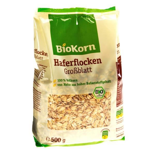 LOGO_BioKorn Haferflocken Großblatt & Kleinblatt