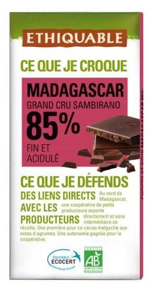 LOGO_NOIR 85% MADAGASKAR KAKAO GRAND CRU SAMBIRANO Bitter-Schokolade Mit zarter Zitrusnote