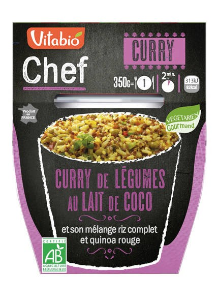LOGO_VITABIO CHEF Rice, Quinoa and Vegetables with Curry: Ready-to-eat cooked vegetarian dishes