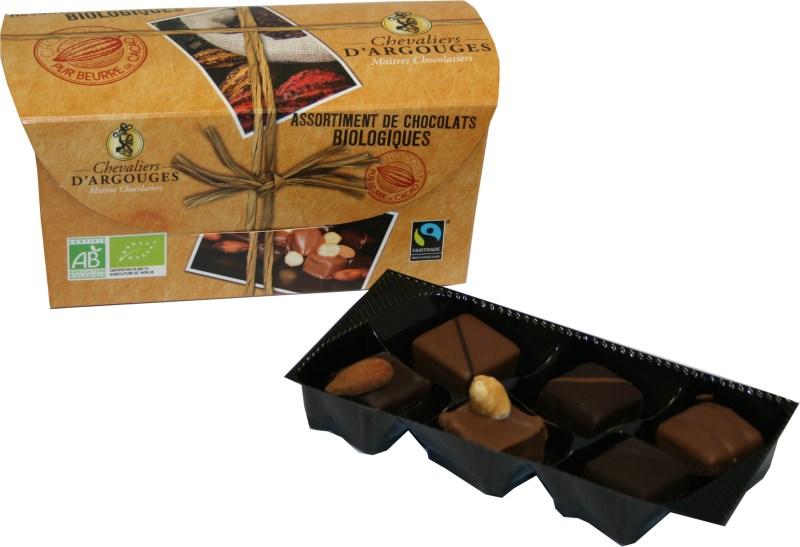 LOGO_Assortment of milk and dark chocolate – 180g – Organic and Fairtrade