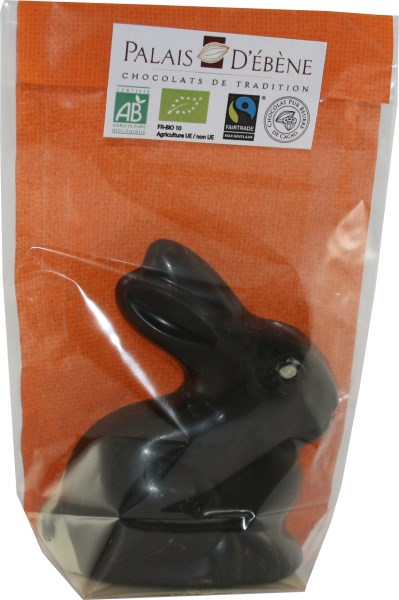LOGO_Little rabbit in dark chocolate – 70g – Organic and Fairtrade