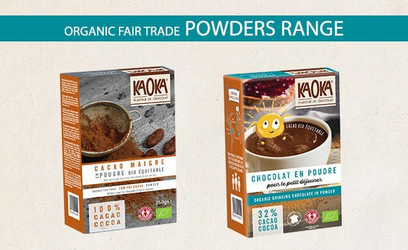 LOGO_Kaoka organic fairtrade powders range