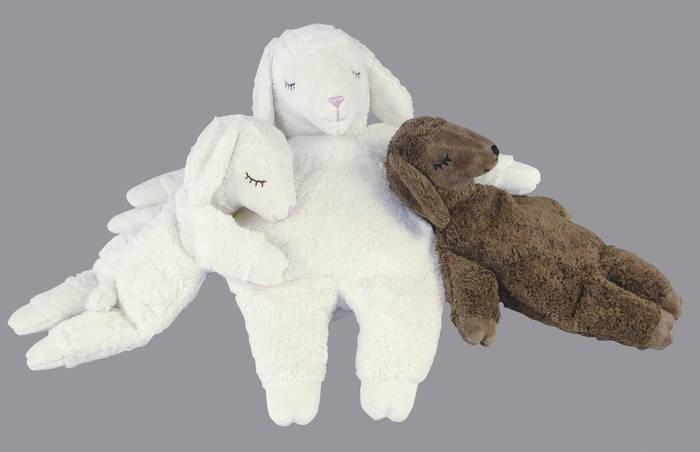 LOGO_Cuddly animals with cherry stone or spelt chaf filling