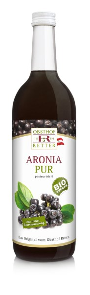 LOGO_organic Aronia pure, 100% direct juice