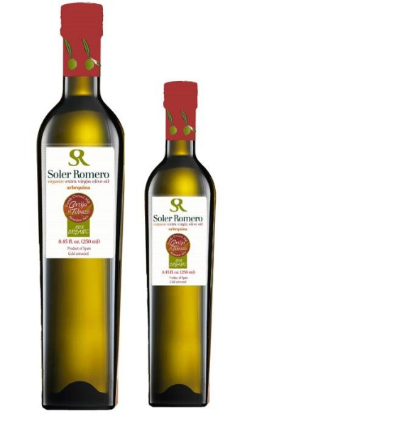 LOGO_Organic extra virgin olive oil, 100% Arbequina.