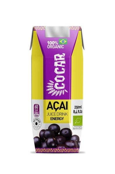 LOGO_COCAR ORGANIC ACAI ENERGY 100% VEGAN, GLUTEN FREE SUGARFREE WITH GUARANA, GREEN TE, MATE HERB AND MARACUJA