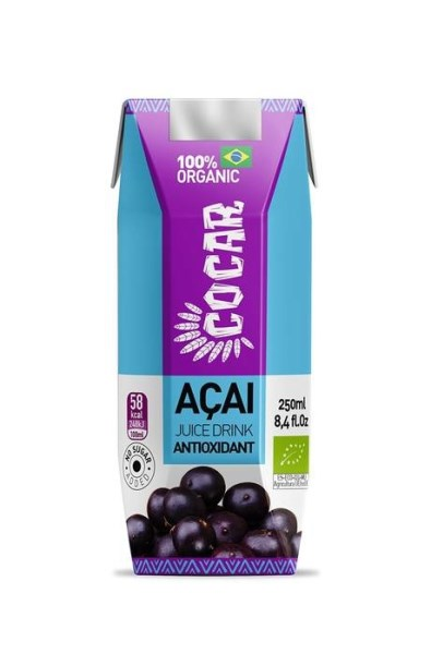 LOGO_COCAR ORGANIC ACAI ANTIOXIDANT 100% VEGAN, GLUTEN FREE SUGARFREE WITH CRANBERRY AND GRENADA