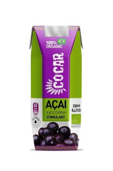 LOGO_COCAR ORGANIC ACAI GREEN SAFT ZU 100% BIO VEGAN OHNE GLUTEN OHNE ZUCKER ACAI + SPIRULINA + MANGO + INGWER