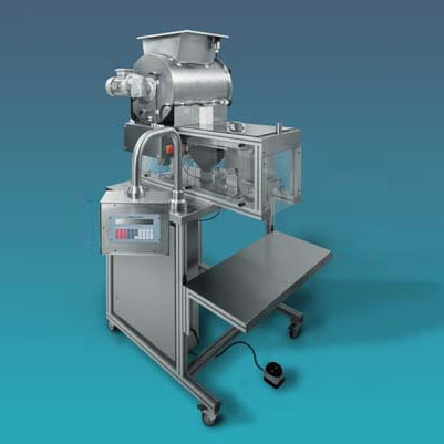 LOGO_Gravimetric – Dosing - Unit with Agitator Drum made in Stainless Steel Type DW 5.0 / T-100/SP