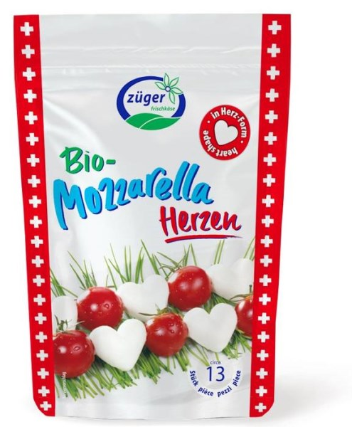 LOGO_Organic mozzarella hearts 130g