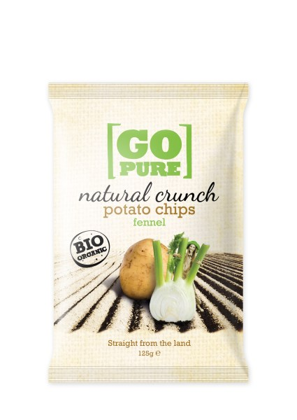 LOGO_GoPure organic natural crunch potatos chips fennel 125g