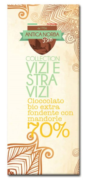 LOGO_ORGANIC DARK CHOCOLATE WITH ALMONDS, 70% COCOA