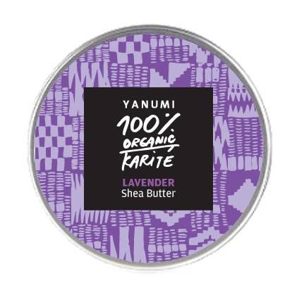 LOGO_Organische kaltgepresste unraffinierte Sheabutter mit Lavendelöl