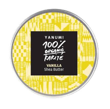 LOGO_Organische kaltgepresste unraffinierte Sheabutter mit Vanille