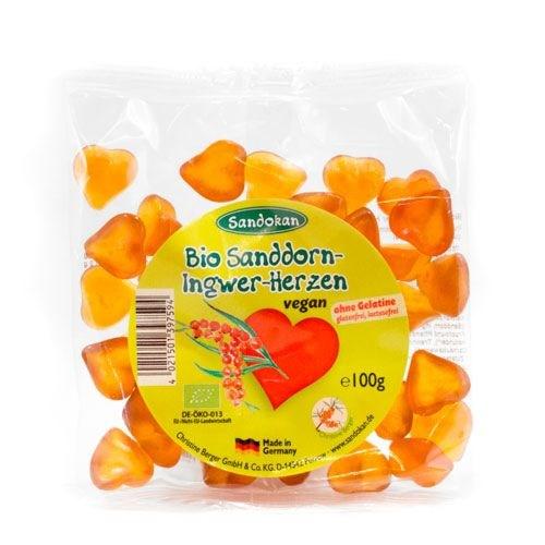 LOGO_Bio Sanddorn-Ingwer-Herzchen 100 g
