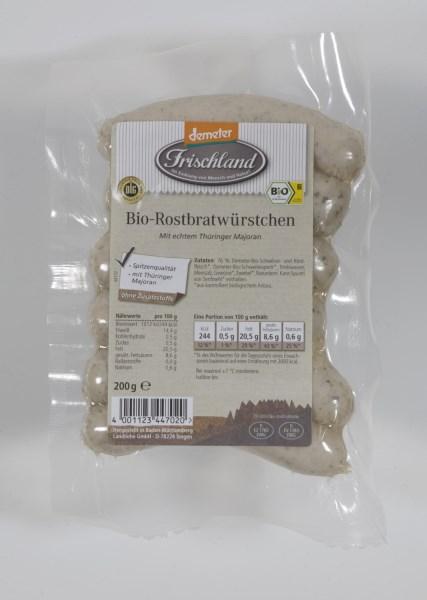 LOGO_Frischland Demeter Bio-Rostbratwürstchen 6 Stück = 200g