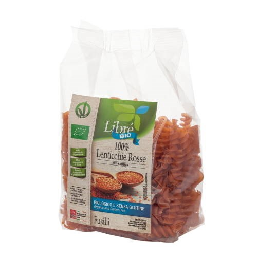 LOGO_100% Red Lentils Fusilli, Gluten Free