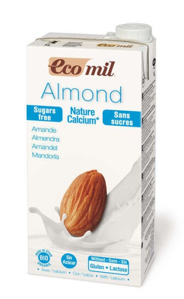 LOGO_EcoMil Almond milk sugar-free calcium Bio 1 L