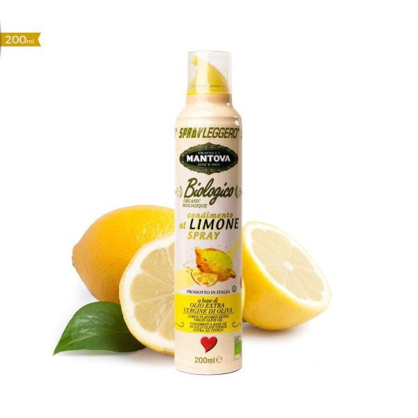 LOGO_Organic Lemon Flavored Extra Virgin Olive Oil Spray 200 ml