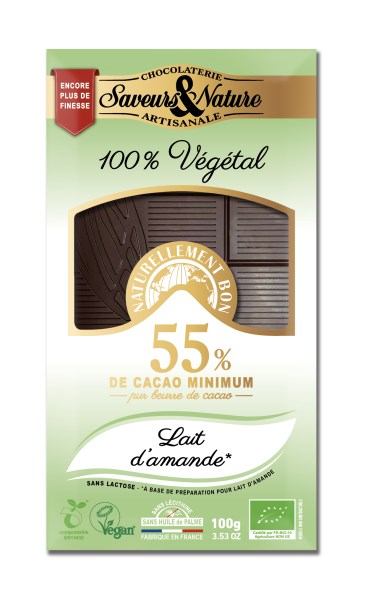 LOGO_Chocolate bar with almond oil, lactose-free