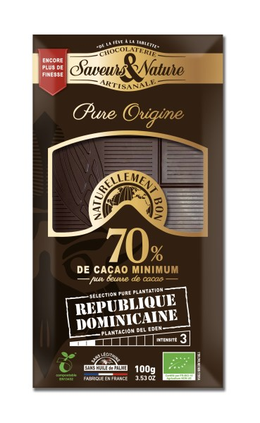 LOGO_70% cocoa dark chocolate - Single Origin Dominican Republic - Pure Plantation