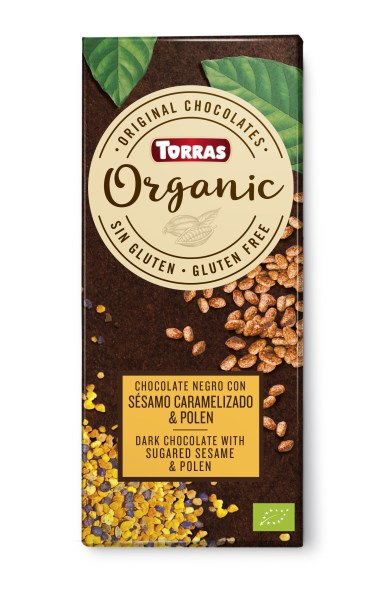 LOGO_ORGANIC DARK CHOCOLATE WITH TOASTED SESAME & POLEN