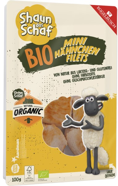 LOGO_Shaun the sheep Organic mini chicken fillets