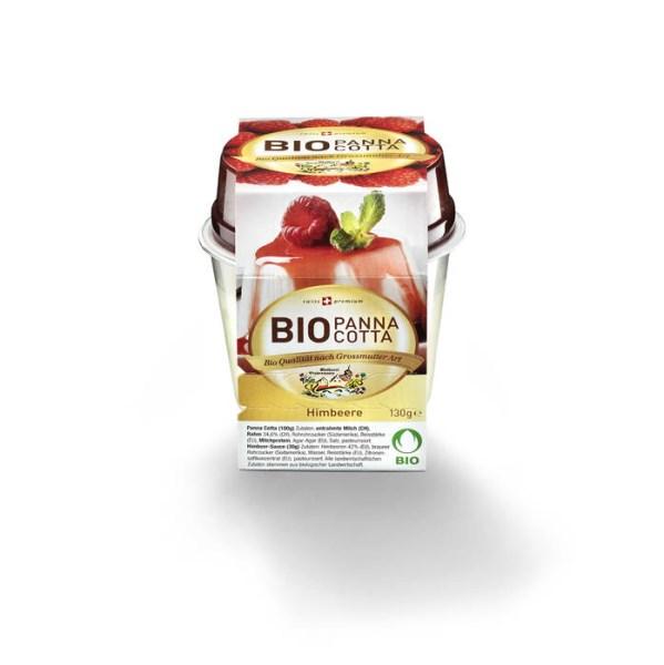 LOGO_Organic raspberry panna cotta 130g
