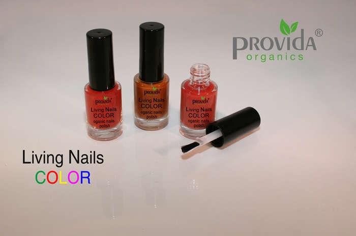 """LOGO_""""Provida Living Nails COLOR Organic nail top coat with Mineral powder"""""""