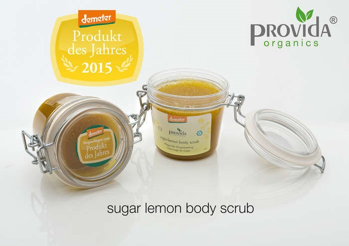 "LOGO_""Provida Sugar-Lemon Body-Scrub   Demeter Product of the year 2015"""