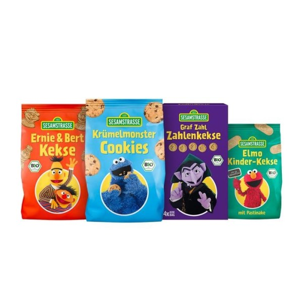 LOGO_SESAME STREET Organic biscuits Ernie & Bert / Cookie Monster