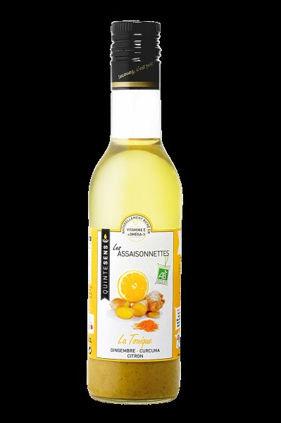 "LOGO_Organic healthy and gourmet dressing ""Tonique"" (ginger, turmeric, lemon zest)"